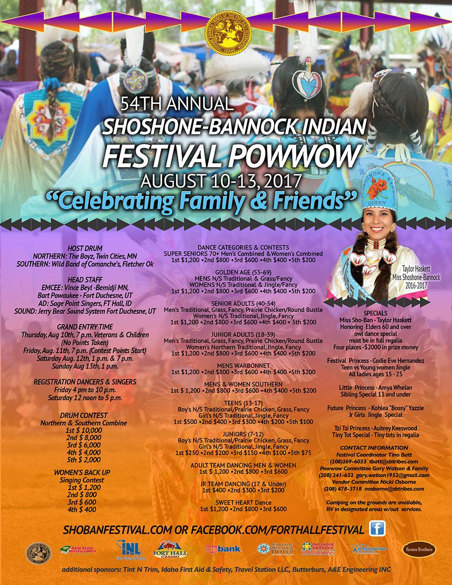 Shoshone-Bannock Festival 2017 Poster