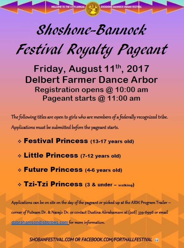 Shoshone-Bannock Festival Royalty Pageant